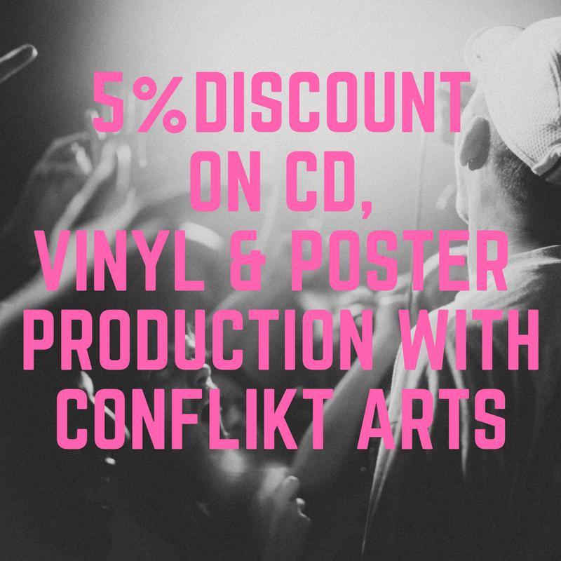 5% Discount Conflikt Arts (CD, Vinyl, Poster) Production Image